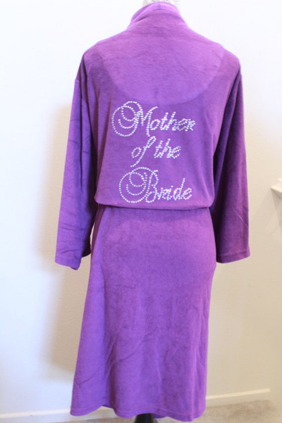 MOTHER of the Bride, Personalized Bridesmaid Gifts, Maid of Honor Gifts, Mother of the Bride Gifts, Bejeweled Wedding Robe