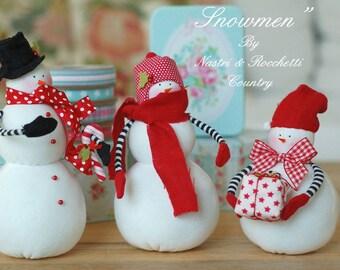 Snowmen PDF english pattern