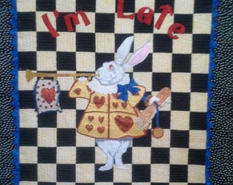 I'm Late Mr. Rabbit Quilt Pattern Alice in Wonderland DIY Quilting Sewing by Robin's Quilt Nest