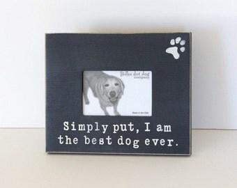 best dog ever frame, dog frame, pet frame, distressed frame