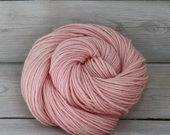 Vega - Hand Dyed Alpaca Merino Wool Silk Worsted Yarn - Colorway: Ballet Slipper