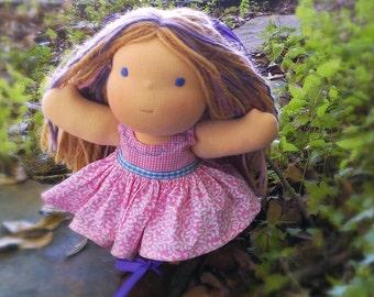 Waldorf Doll Dress - Waldorf Sundress in Pink