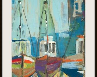 bateaux de peche print/poster print