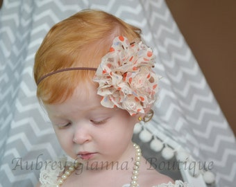 Baby Headband, Fall Headband, Thanksgiving headband, newborn photo prop, infant headband, First thanksgiving, headbands, accessories
