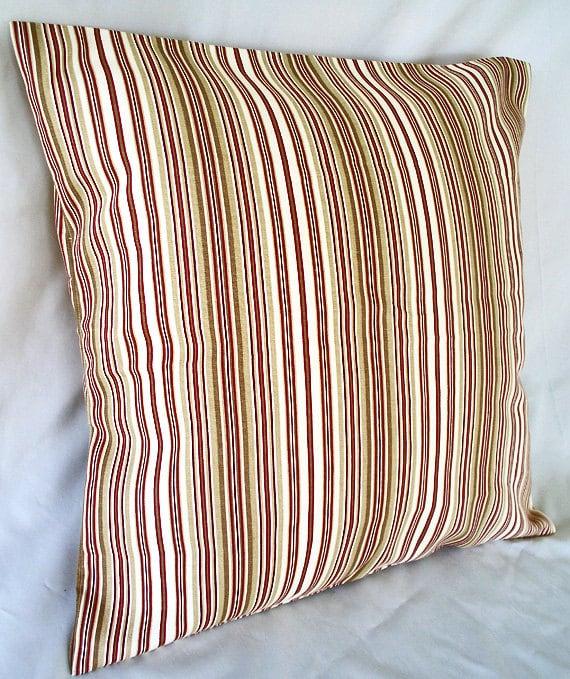 Red Stripe Pillow Cover Striped Throw Pillows Interior