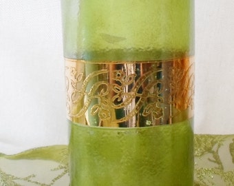 Culver, Starlyte, Glass, Green, Gold, Vintage, 1960'S, Barware, Glassware, 22K Gold, Starlyte-Culver Ltd Glass, Mid Century