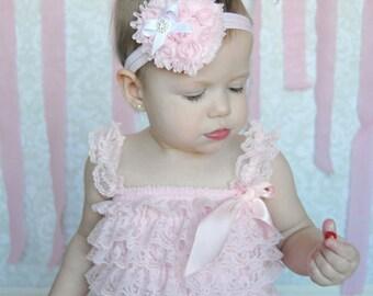 Valentine Headband, Light Pink Heart Headband, Baby Headband, Infant Headband, Toddler Headband, Girls Headband, Light Pink Heart Headband,