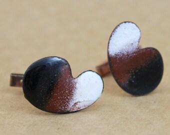 Mid Century Modern Enameled Copper Cufflinks