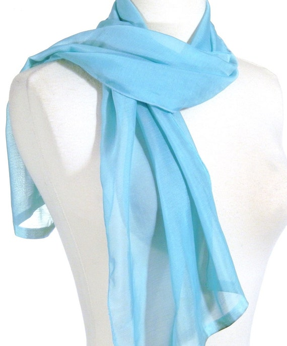 small blue neck scarf blue scarf blue silk scarf by miriboheme