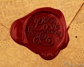 Vintage-style Wax Seal Stamp - Sealing Wax Seal - Seal Stamp - Love