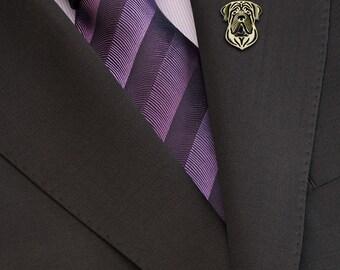 English Mastiff brooch - Gold