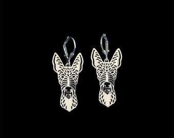 Wire-Haired Ibizan Hound earrings - sterling silver