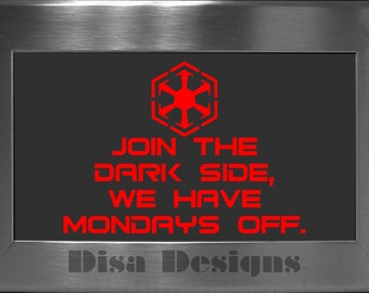 Star Wars inspired Join The Dar Side... vinyl decal - Car decal - Macbook decal
