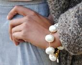 Large Oval Pearl Bracelet...