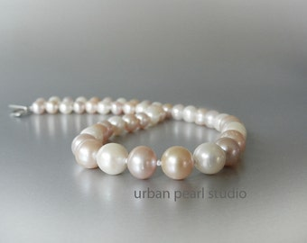 Pink Pearl Necklace, SALE, Blush Pearl Bridal Jewelry, Bridesmaid Jewelry, Blush Wedding Jewelry