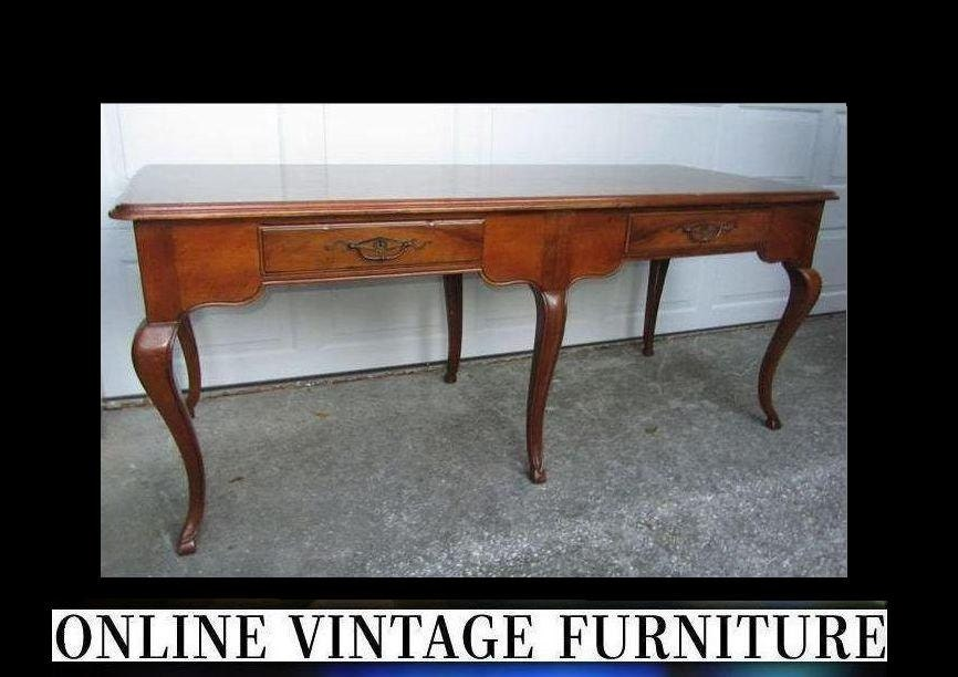 1980s Baker Furniture Desk Or Table Vintage Colonial Federal