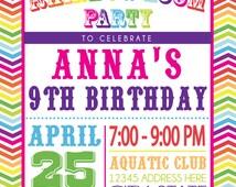 RAINBOW LOOM PARTY invitation