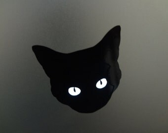 Cat Decal Halloween Costume For MacBook Pro 13 inch 15 17 PC Laptop Decal Kitty Sticker Eyes Lamp Light up Glow Black Panther