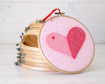 "2 pack -  9"" Round Edge Wooden Embroidery Hoop - Smooth Edge Embroidery Hoops - Wooden Embroidery Hoops - Large Embroidery Hoop"