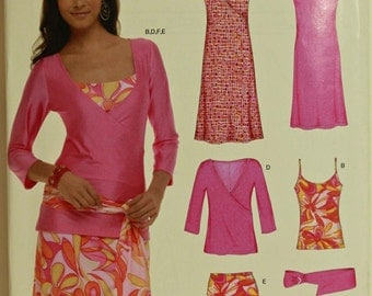 Dresses, Tops, Skirt & Belt - 2000's - New Look Pattern 6571 Uncut  Sizes 8-10-12-14-16-18 Bust 31.5 to 40""