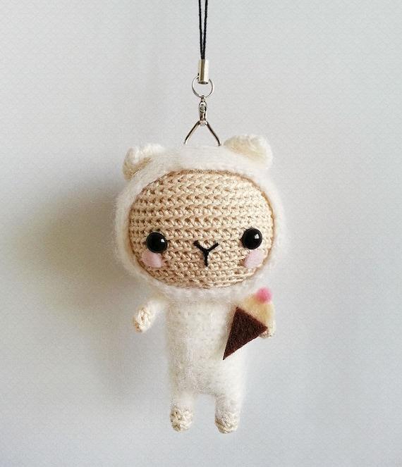 Amigurumi Sheep Doll : Crochet Lamb Bag Charm Lamb Amigurumi Doll Lamb by krokrolamb