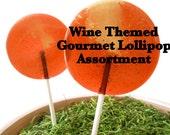 Wine Gourmet Lollipop Assortment (8) - Wine Theme Party - Luxe Lollies - Party Favors - Wedding Favors - Cabernet - Merlot - Chardonnay