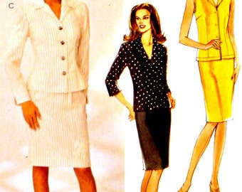 Slim Straight Skirts Blouse Tops Jackets McCall's 3965 Sewing Patterns Plus Size 16 18 20 22 Uncut Factory Folds