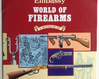 Embassy World of Firearms album picture cards book collectable guns artillery revolver weapons