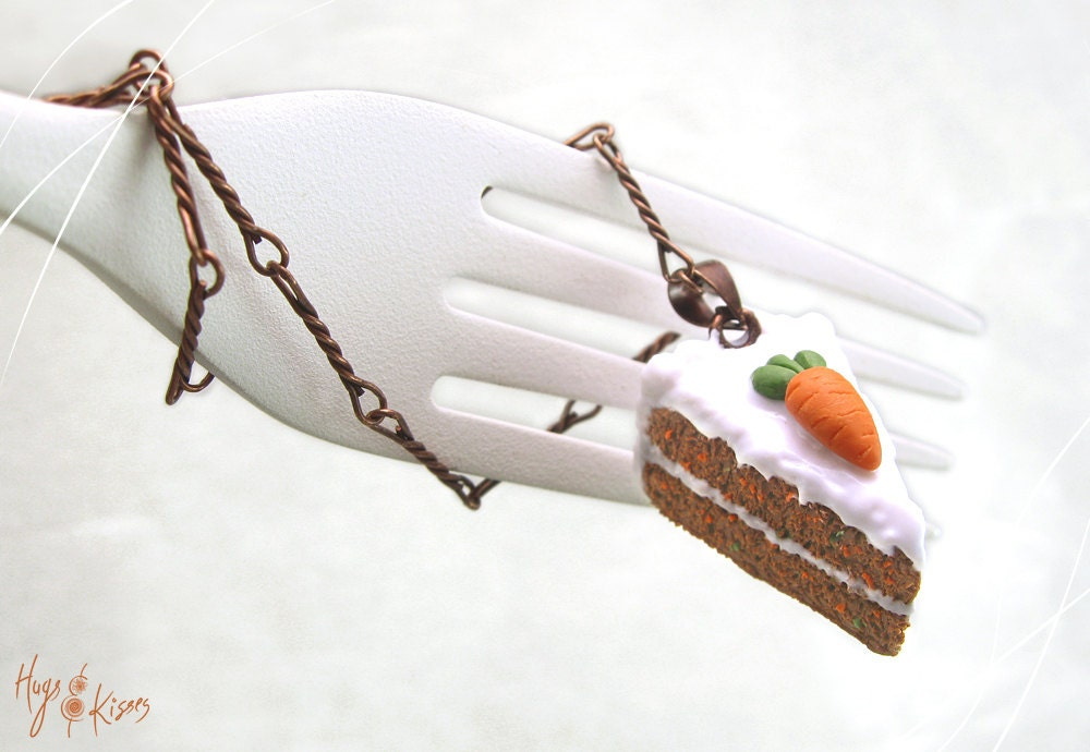 Scented carrot cake necklace copper necklace carrot jewelry for How to make scented jewelry