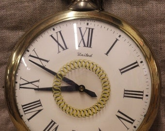 Over Sized United Pocket Watch Home Decor
