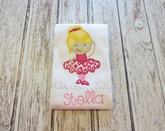 Cheetah Ballerina Girls Appliqued Shirt - Embroidered Shirt, Dance, Ballet, Ballerina, Girls, Baby, Toddler