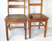 Vintage Wood School Chairs, Adult Size