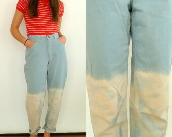 Vintage Two-Tone Denim Pants // High Waisted // Size 6