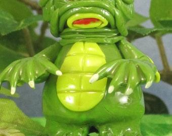 Wee Creature From the Black Lagoon OOAK for fairy garden, handmade miniature