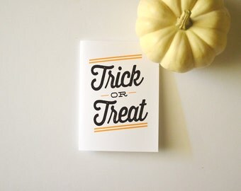 Halloween Card - As Seen On LONNY.com - Trick or Treat - Stationery Cards