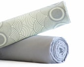 """Swaddle Duet - True French Muslin - 42""""x 42"""" Extra Large - Baby Registry Shower Gift - GREY CLOUDS"""
