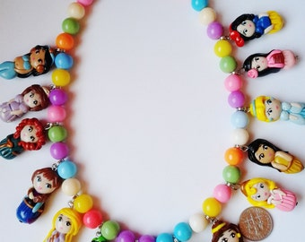 14  princesses necklace