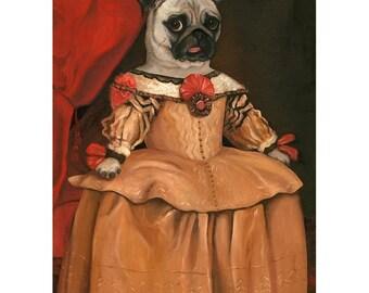 Pug Wall Art Prints, Pug Wall Prints, Pug Gifts for Girls, Pug Bar Art, Midge Marie