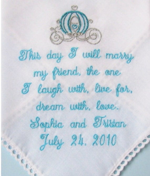 Wedding Handkerchief For The Bride Poem Hanky This Day I