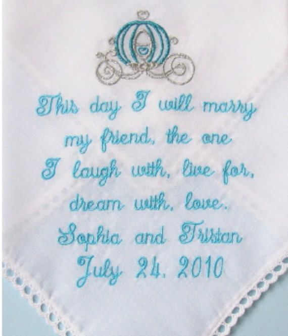 Wedding Day Poems For Bride: Wedding Handkerchief For The Bride Poem Hanky This Day I