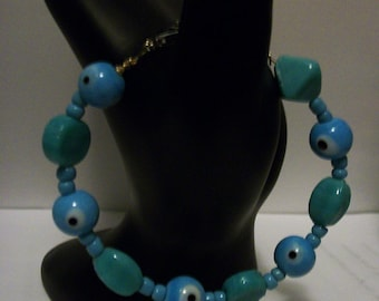 Evil Eye Bracelet: Robin's Egg Blue