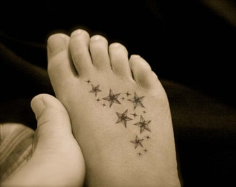 Stars cluster temporary tattoo
