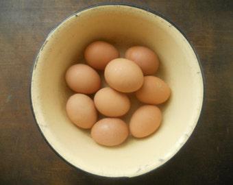 Soviet vintage pale yellow enamel Bowl Shabby yellow bowl Soviet enamel bowl Easter eggs bowl USSR era,1960s