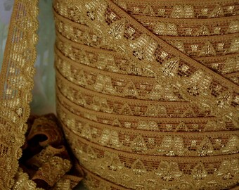 3yds Elastic Lace Stretch Ribbon Cinnamon Brown Stretch Lace Trim 1/2 inch Headbands, lingerie Stretch Trim lace