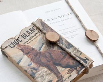 Linen bookmark | hand made | rustic | woodland
