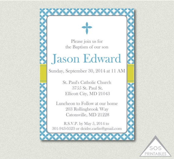 Printable baptism invitation baptism invite christening invitation il570xn stopboris Images