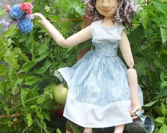 Elaine the Avid Gardener Art Doll