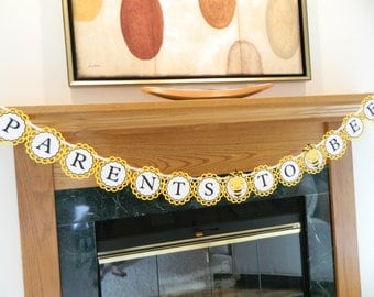 Parents To Bee Banner Parents To Bee Shower Bee Baby Shower Decorations Bee Baby Shower Parents Baby Shower