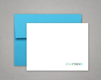 Personalized Stationery or Thank You Notes with Colorful Envelopes - Personalized Stationary