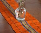 SUPER SALE!!! Orange Table Runner - Woven